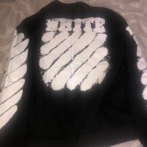 0ef0bb5261de Off-White Jackets   Coats - Off-White Spray Paint Logo Varsity Jacket